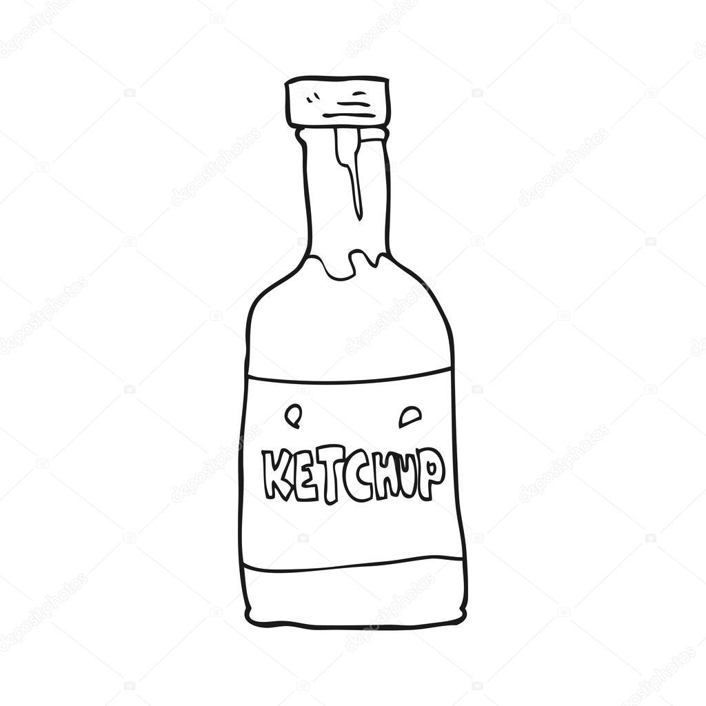 Zwart Wit Cartoon Ketchup
