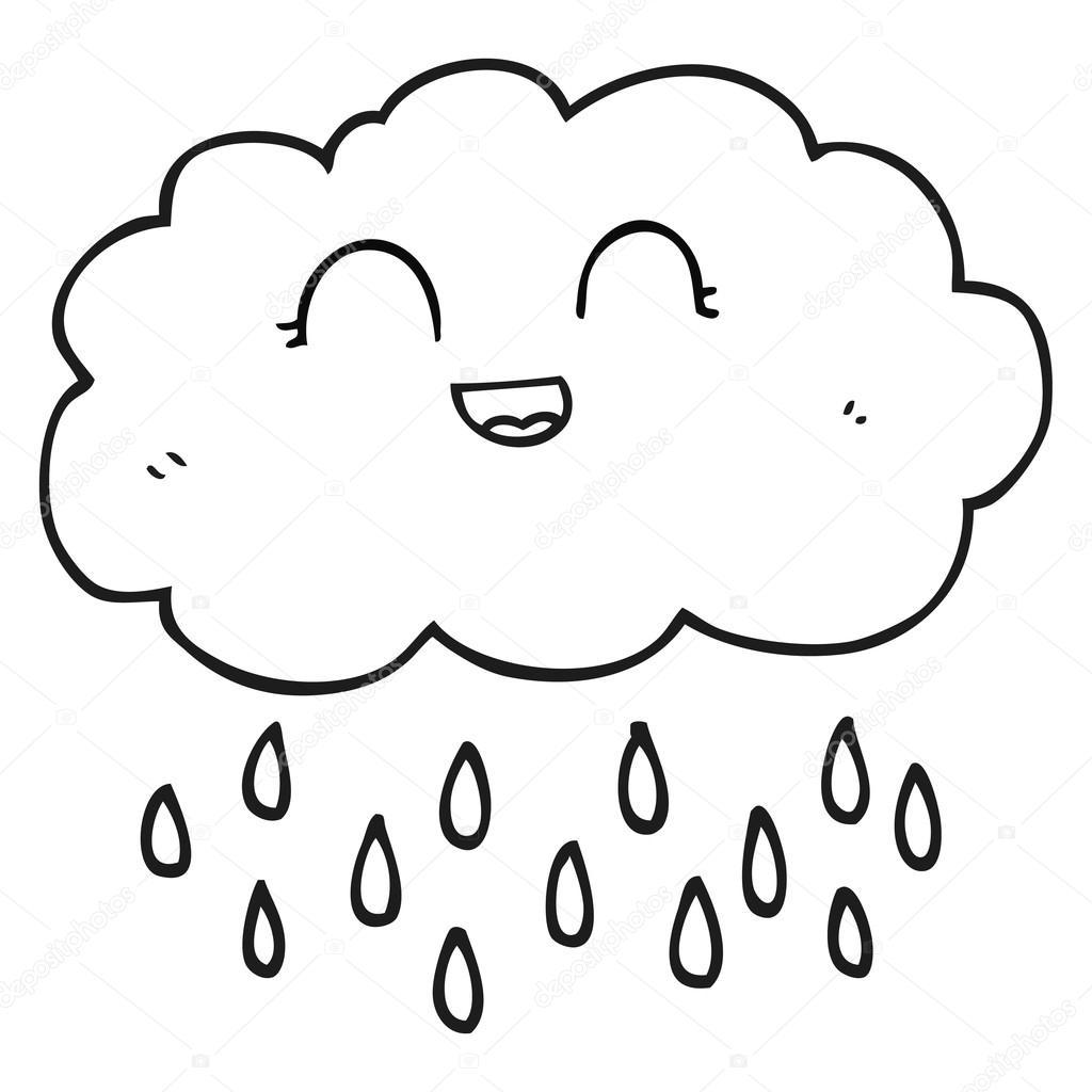 Imagenes Nubes Con Lluvia Para Colorear
