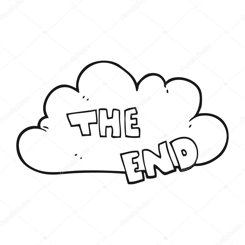 Cartoon Preto E Branco O Simbolo Final
