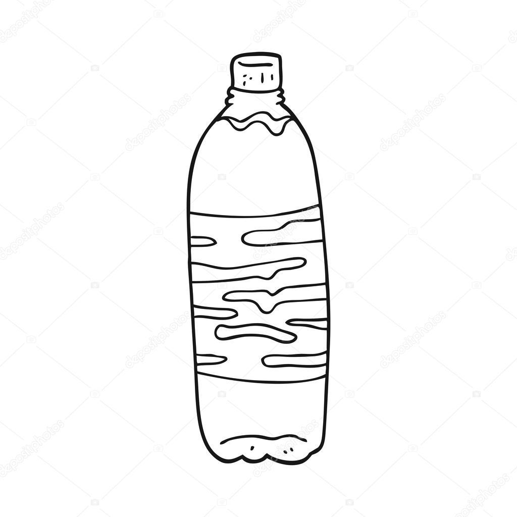 Zwart Wit Cartoon Koolzuurhoudende Drank