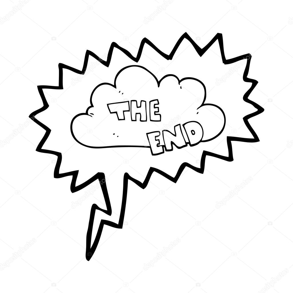 Speech Bubble Cartoon The End Symbol