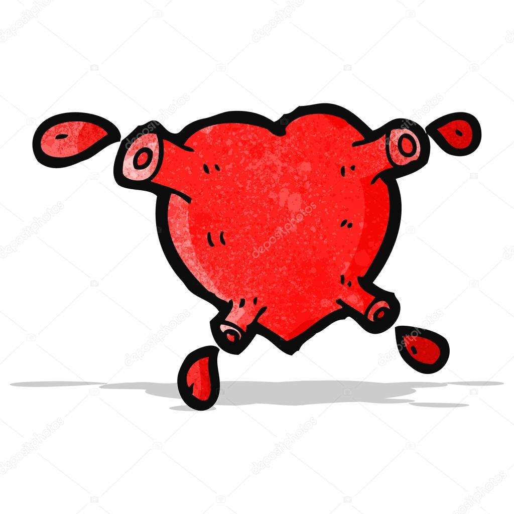 Dessin Anime De Sang Coeur De Pompage