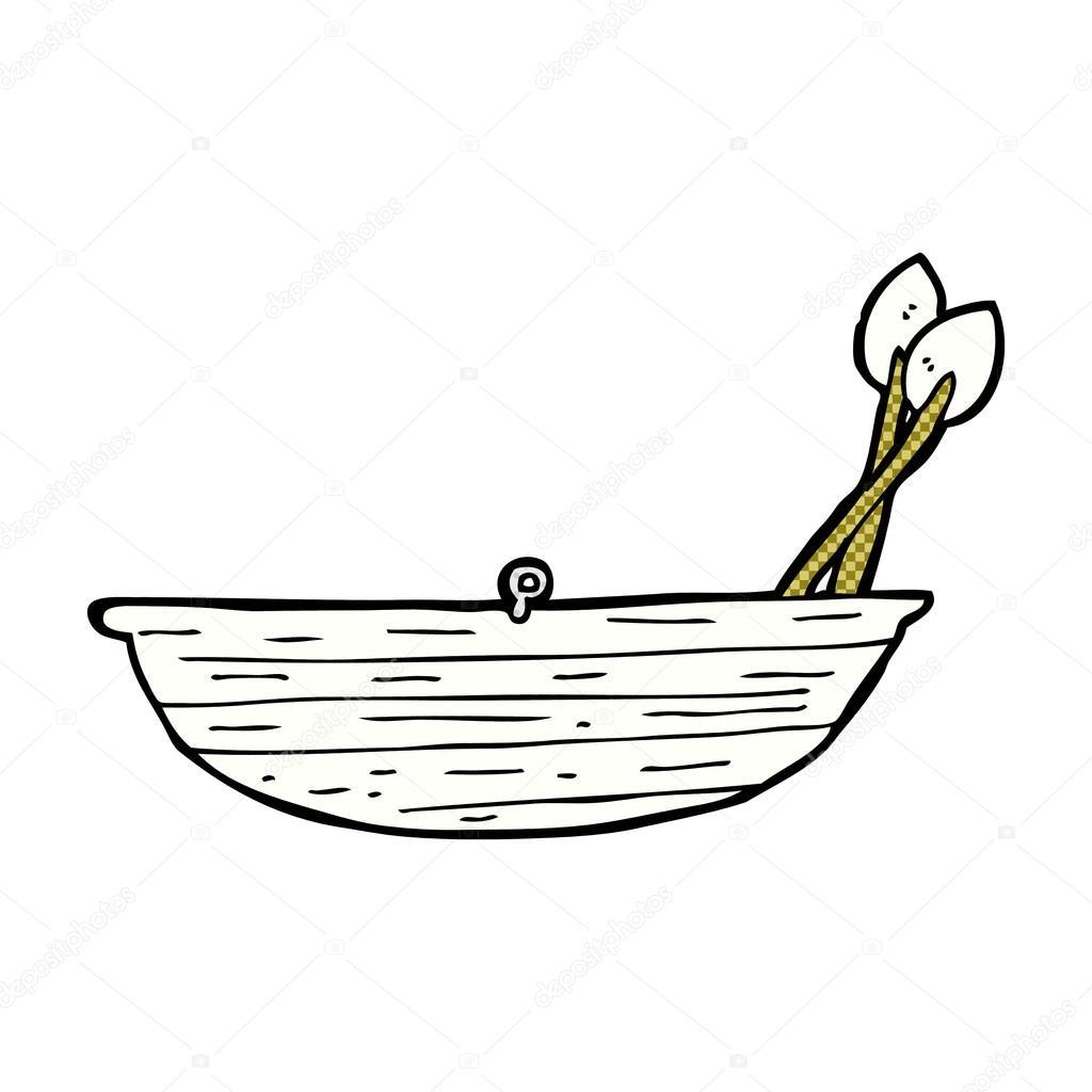 Barco A Remo Em Quadrinhos Desenhos Animados