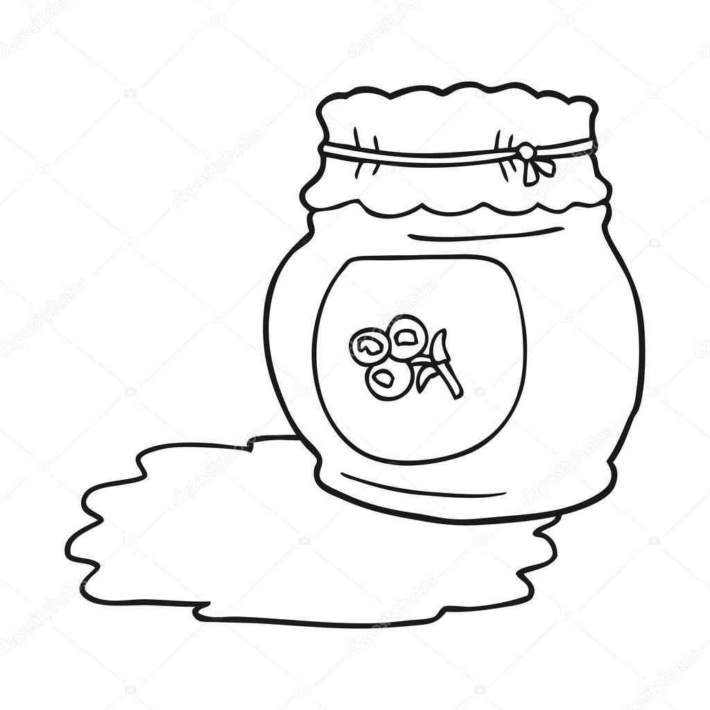 Marmellata Di Mirtilli Del Fumetto Bianco E Nero