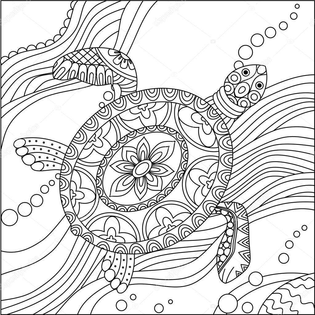 Realistic Leatherback Turtle coloring page | Free Printable ... | 1024x1024