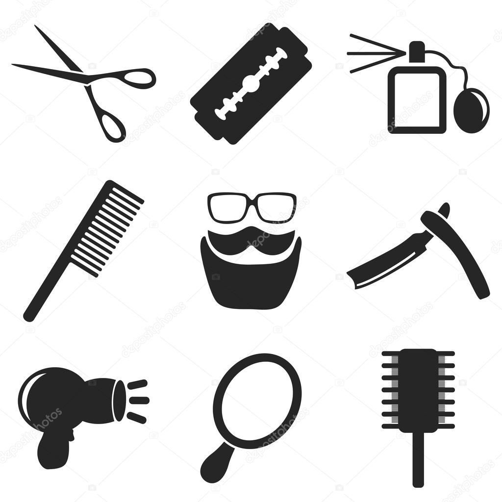 Barber Web And Mobile Icons Collections Vector