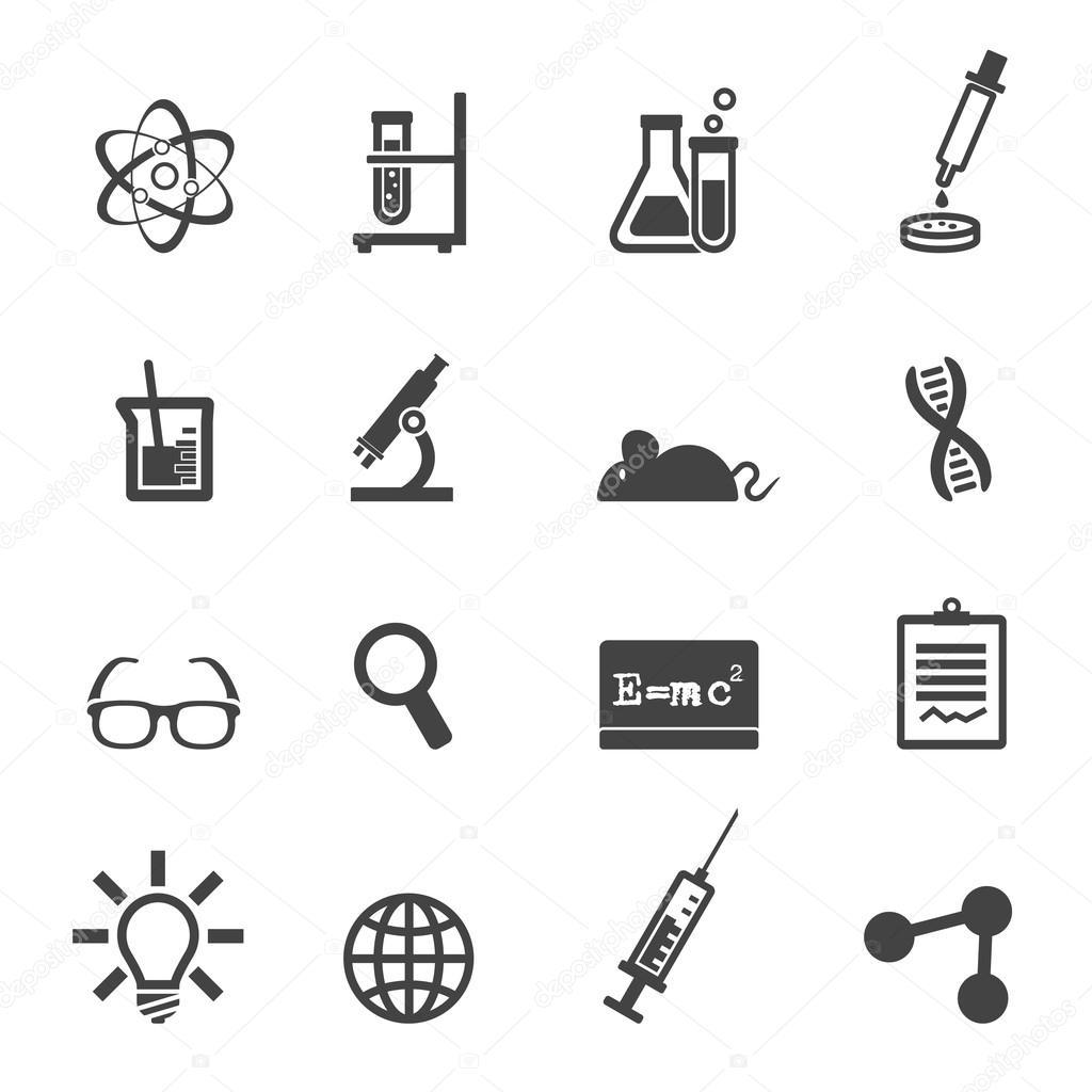 Wetenschap En Laboratorium Pictogrammen