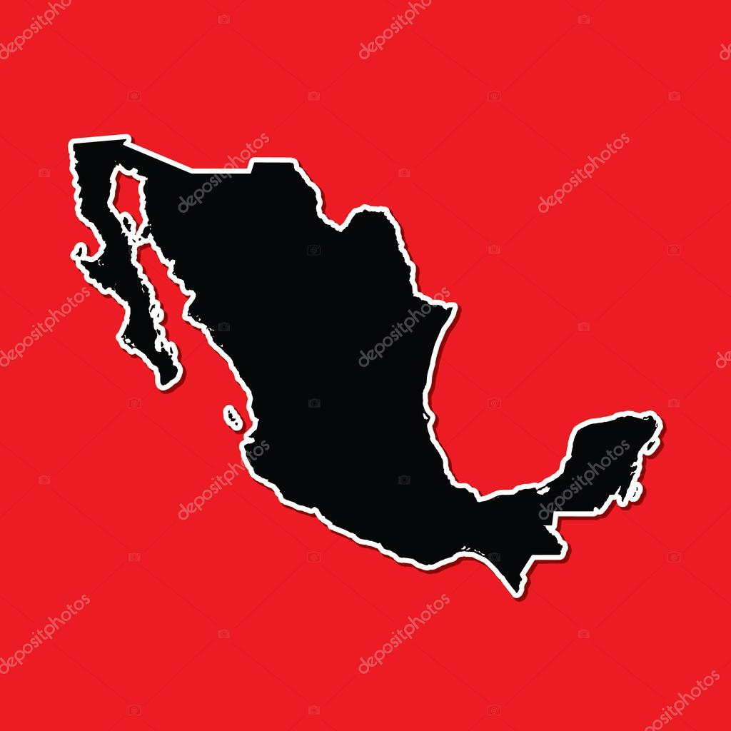 Shape Of The Country Of Mexico