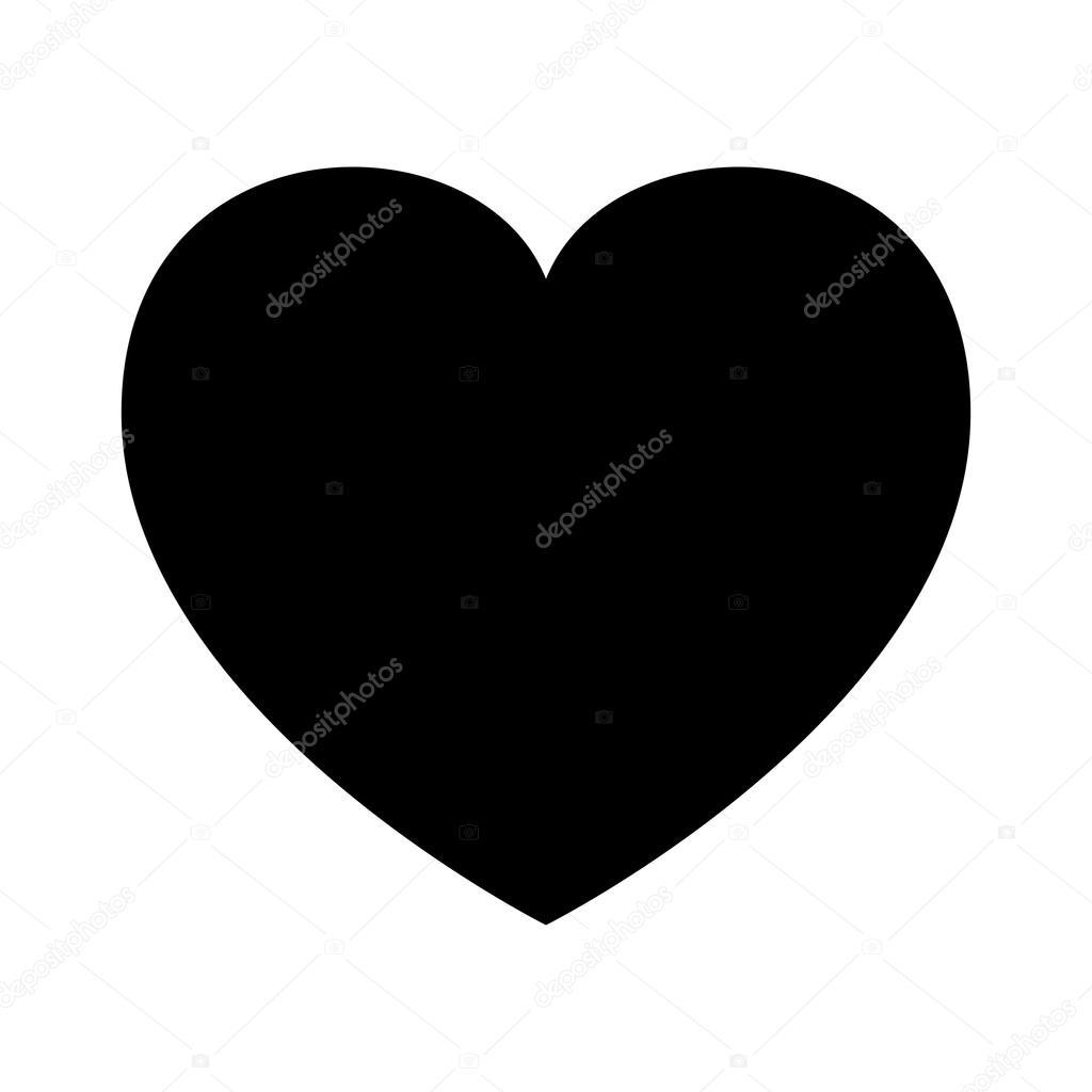 Human Heart Silhouette Outline Love Design Vector