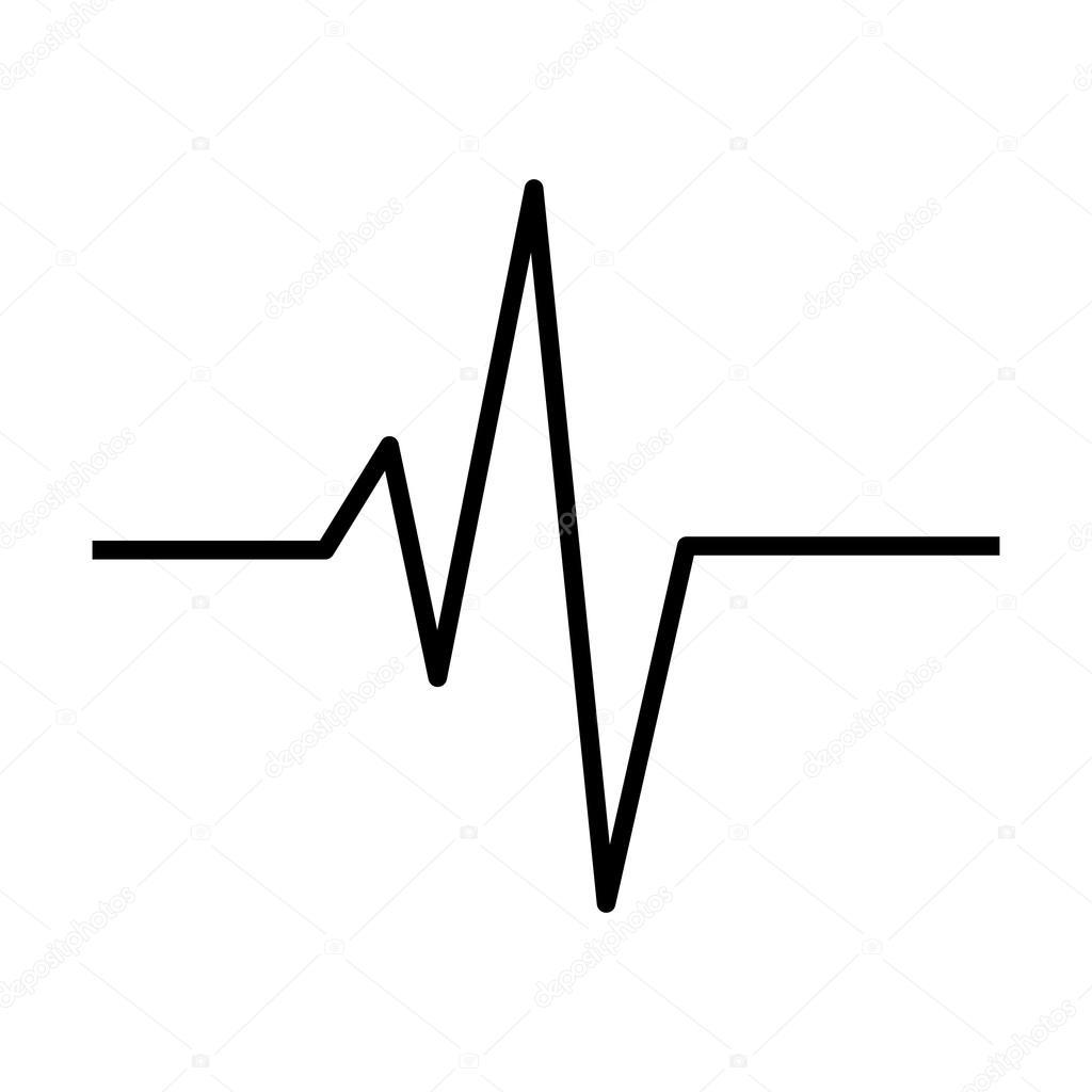 Herzrhythmus Ekg Linie Vektor Symbol Icon Design Schone