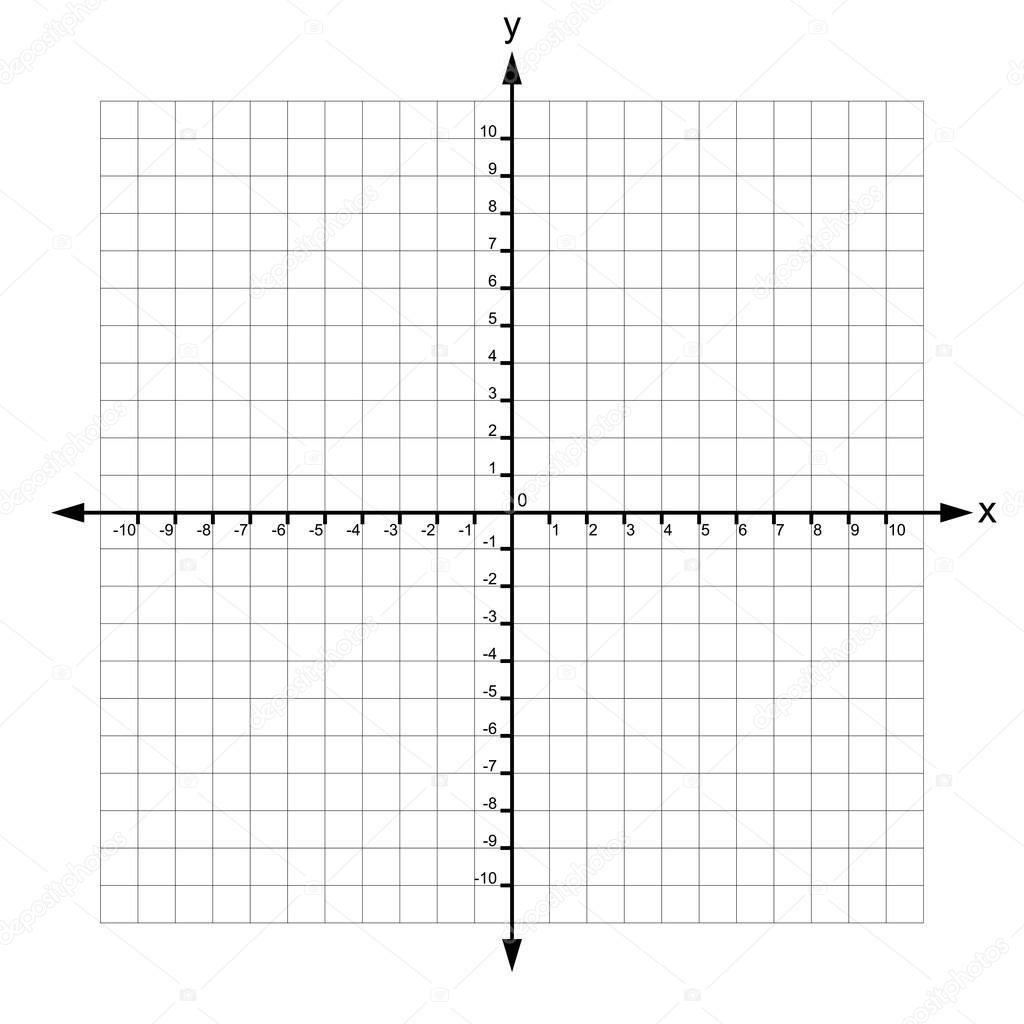 X And Y Axis With Numbers Vector