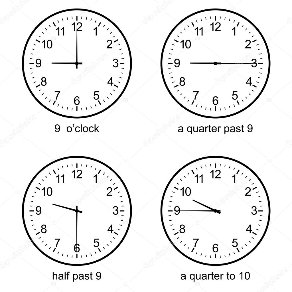 Learning Time Clock Set Vector