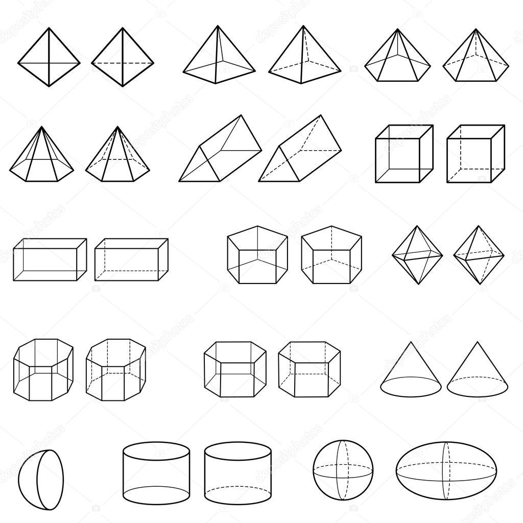 3d Geometrische Vormen Vector