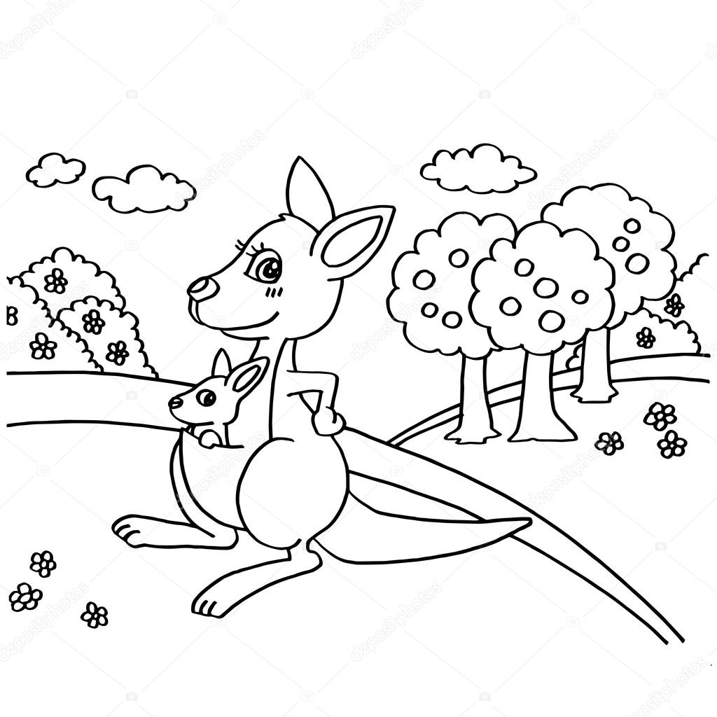 Coloring Pages Kangaroo Coloring Page