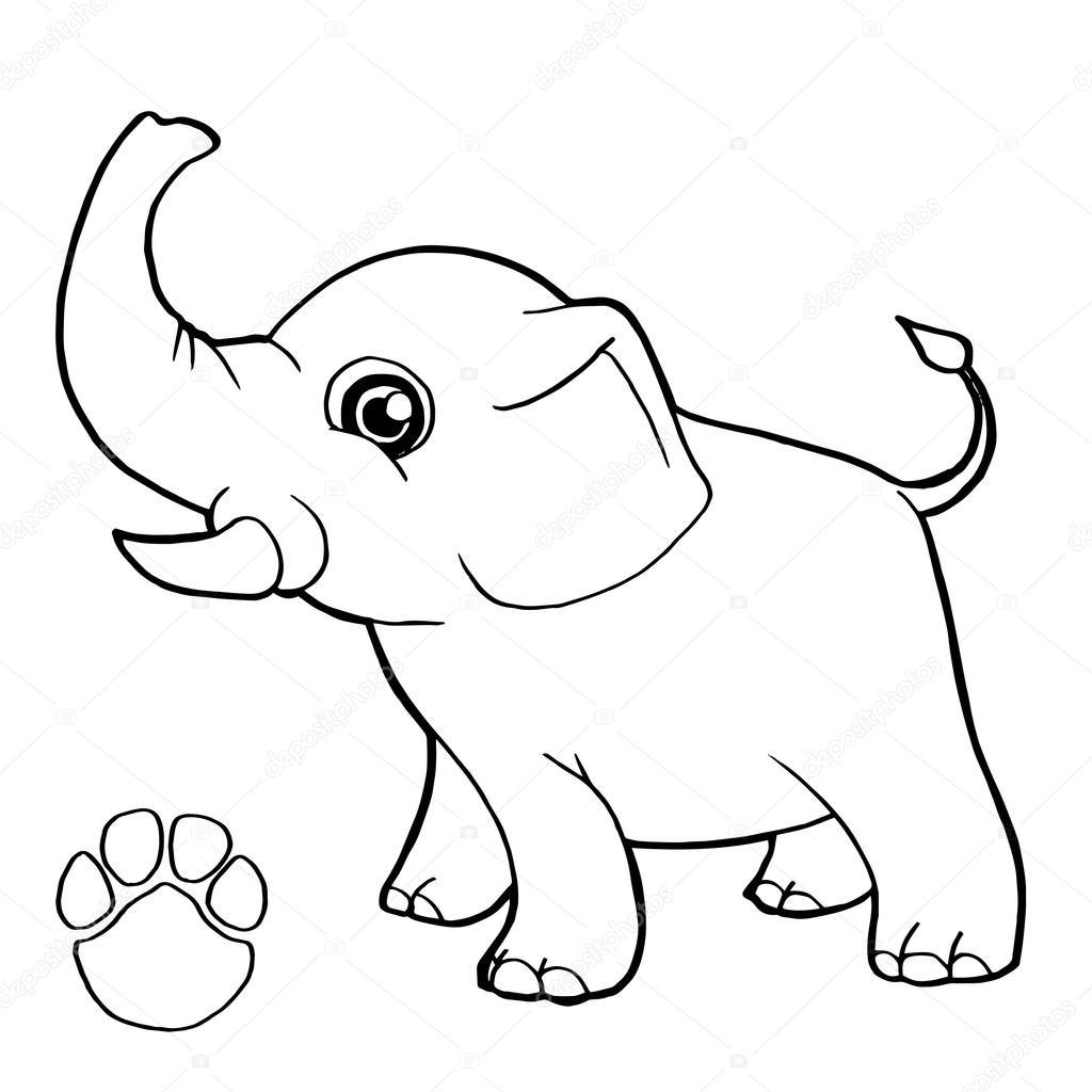 Siluetas De Elefantes Para Colorear