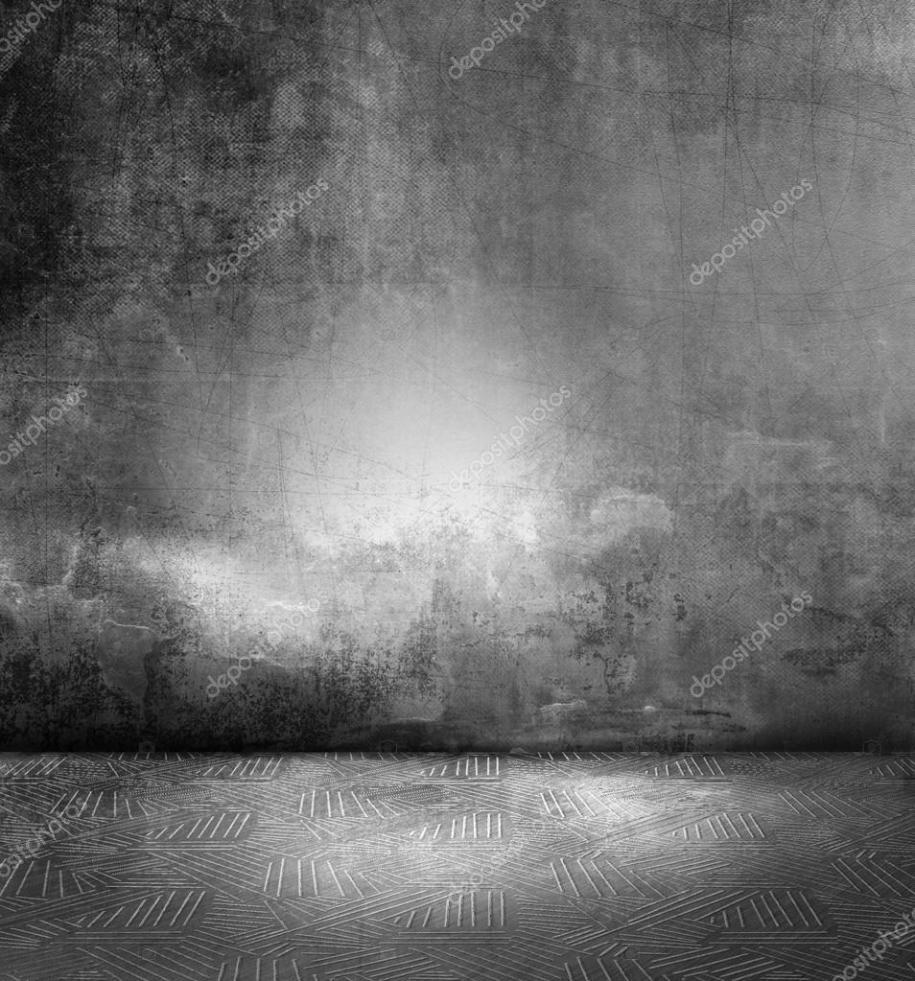 Dark room - grunge black gray concrete background wall ...