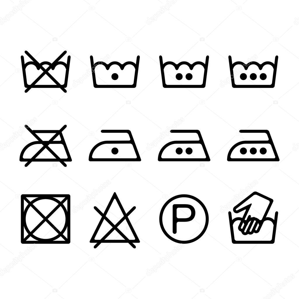Vector Iconos De Lavado