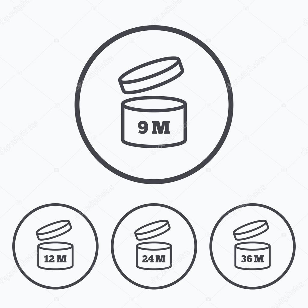 After Opening Use Icons Expiration Date Product