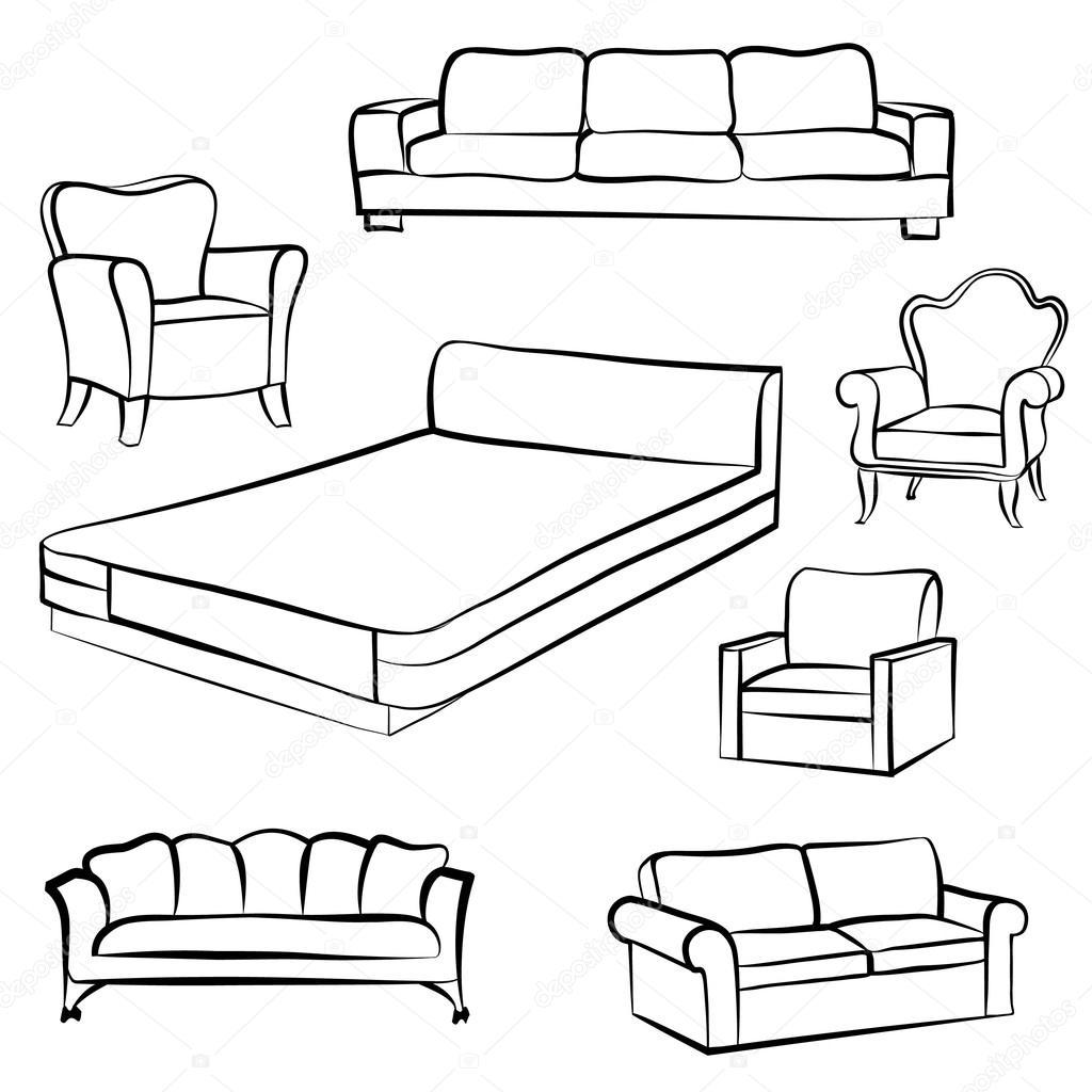 Cama Sofa Sofa Sillon Set De Muebles