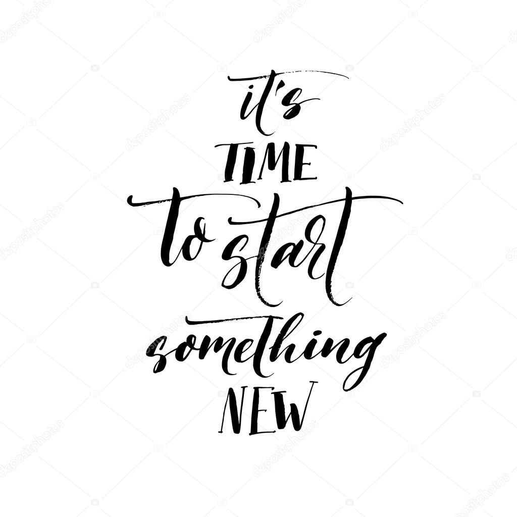 Es Ist Zeit Etwas Neues Zu Beginnen