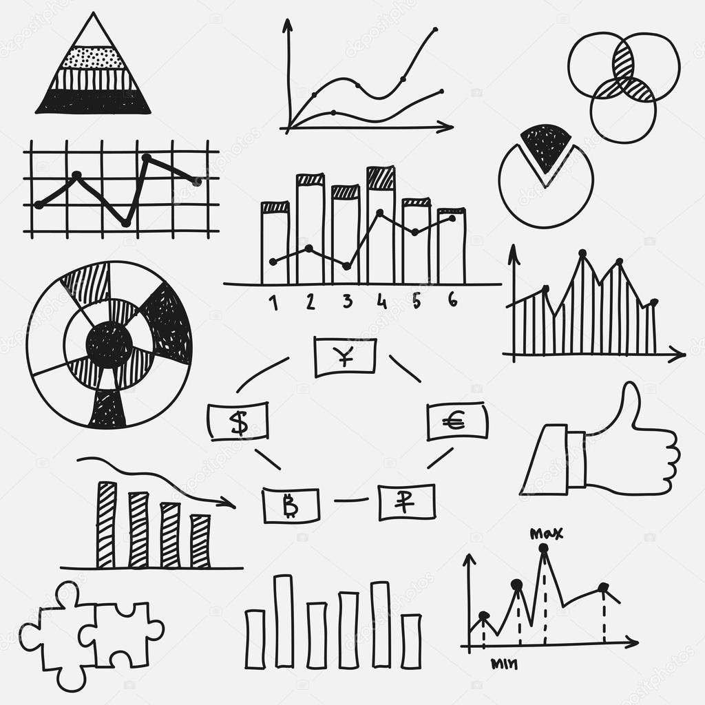 Hand Drawn Doodle Business Sketches Finance Statistics