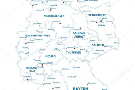 germany outline map with cities » Full HD Pictures [4K Ultra] | Full ...