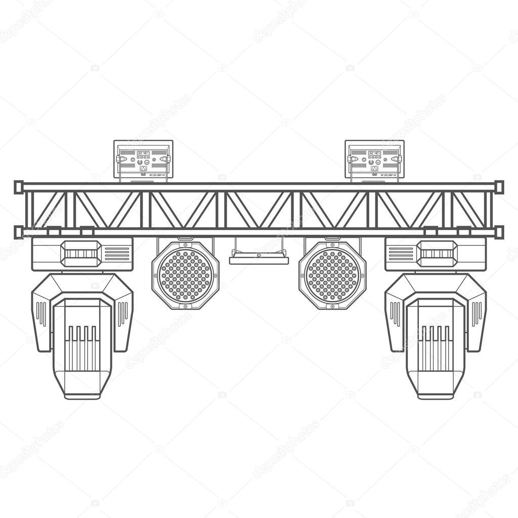 Equipamento De Iluminacao Palco Trelica Metalica Concerto