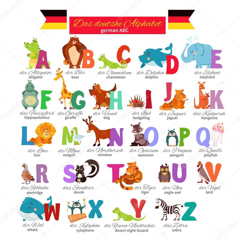 Alfabeto Zoo Illustrato Tedesco