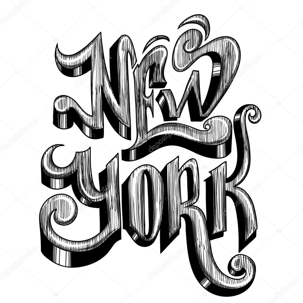 Frase Scritta Concettuale New York City Su Una Priorita