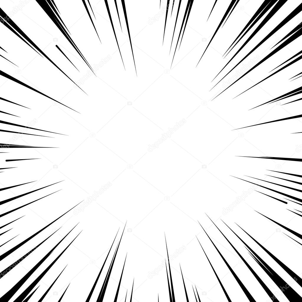 Manga Comic Book Flash Explosion Radial Lines Background