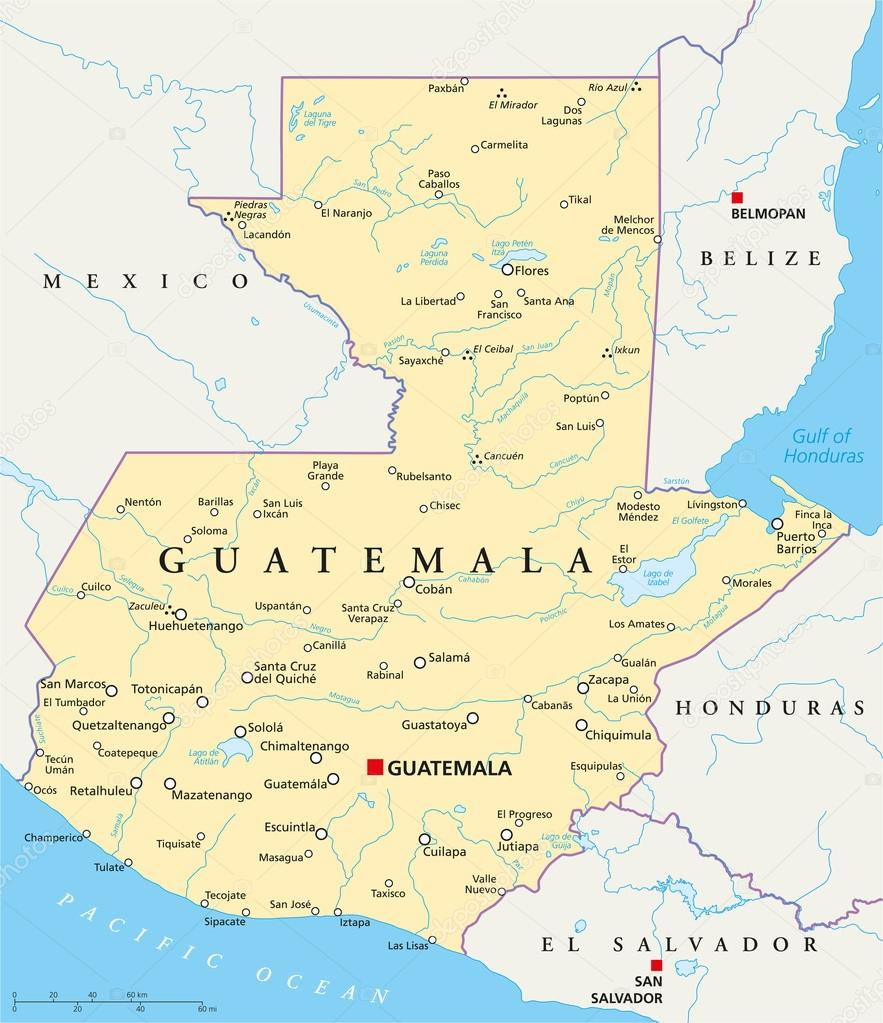 Piedras Negras Guatemala Map
