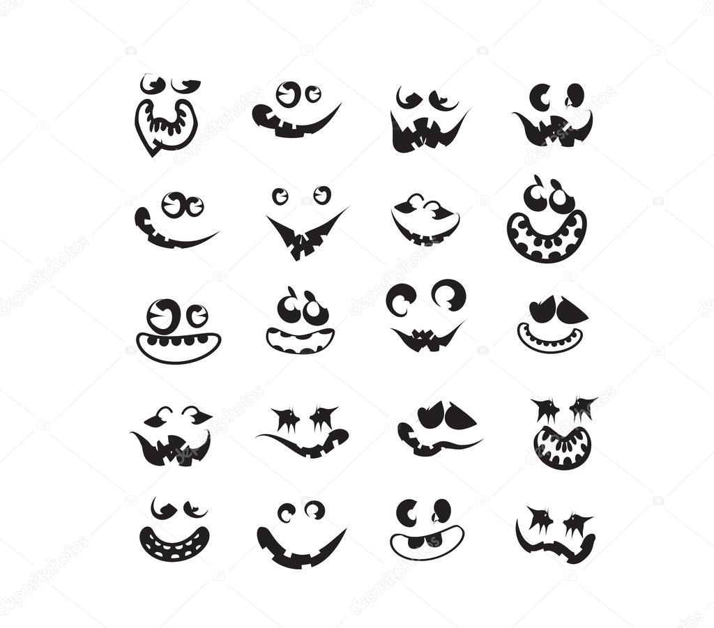 Fantasma Rostos Rostos De Abobora