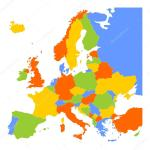 Colorful Blank Map Of Europe Stock Vector C Pyty 96092998