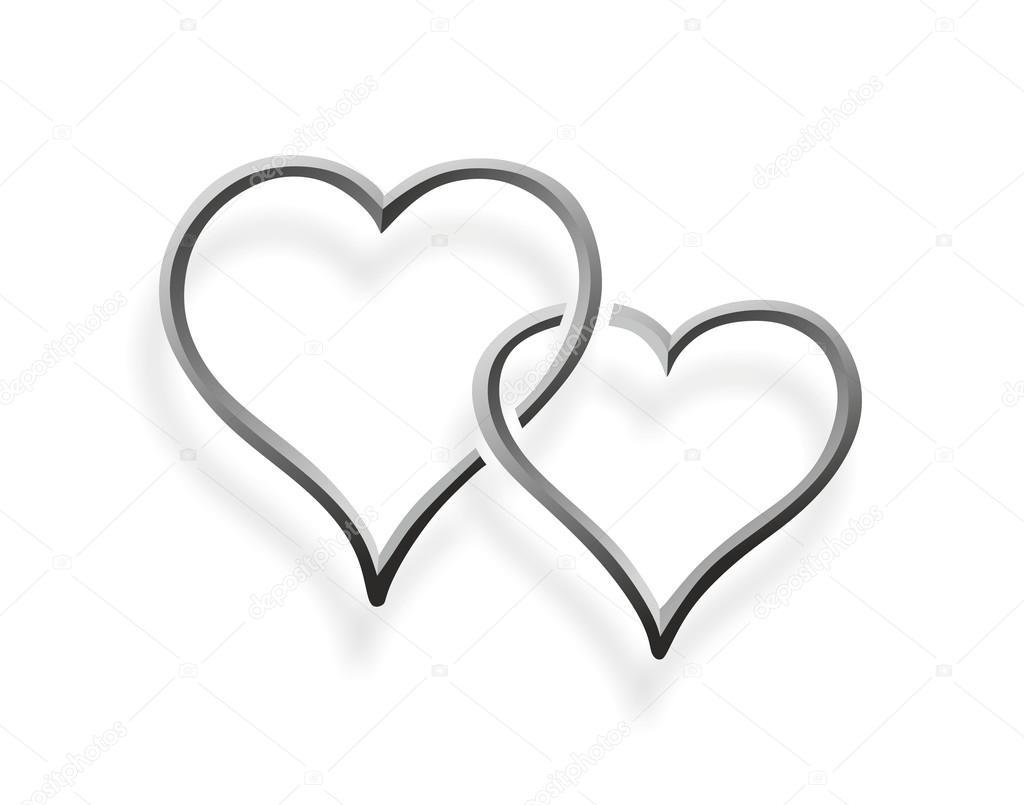 Deux Coeurs Enlaces