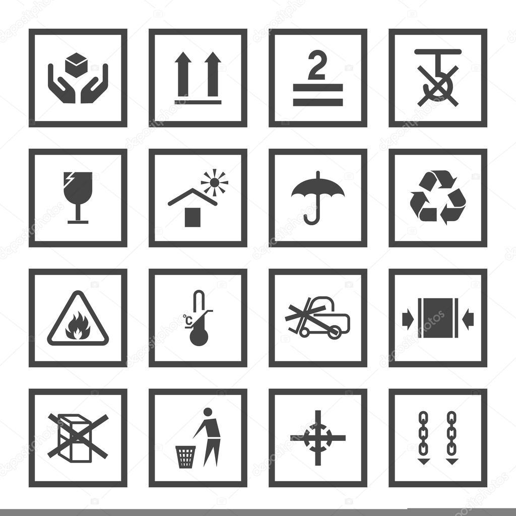 Manutention Et D Emballage Des Symboles