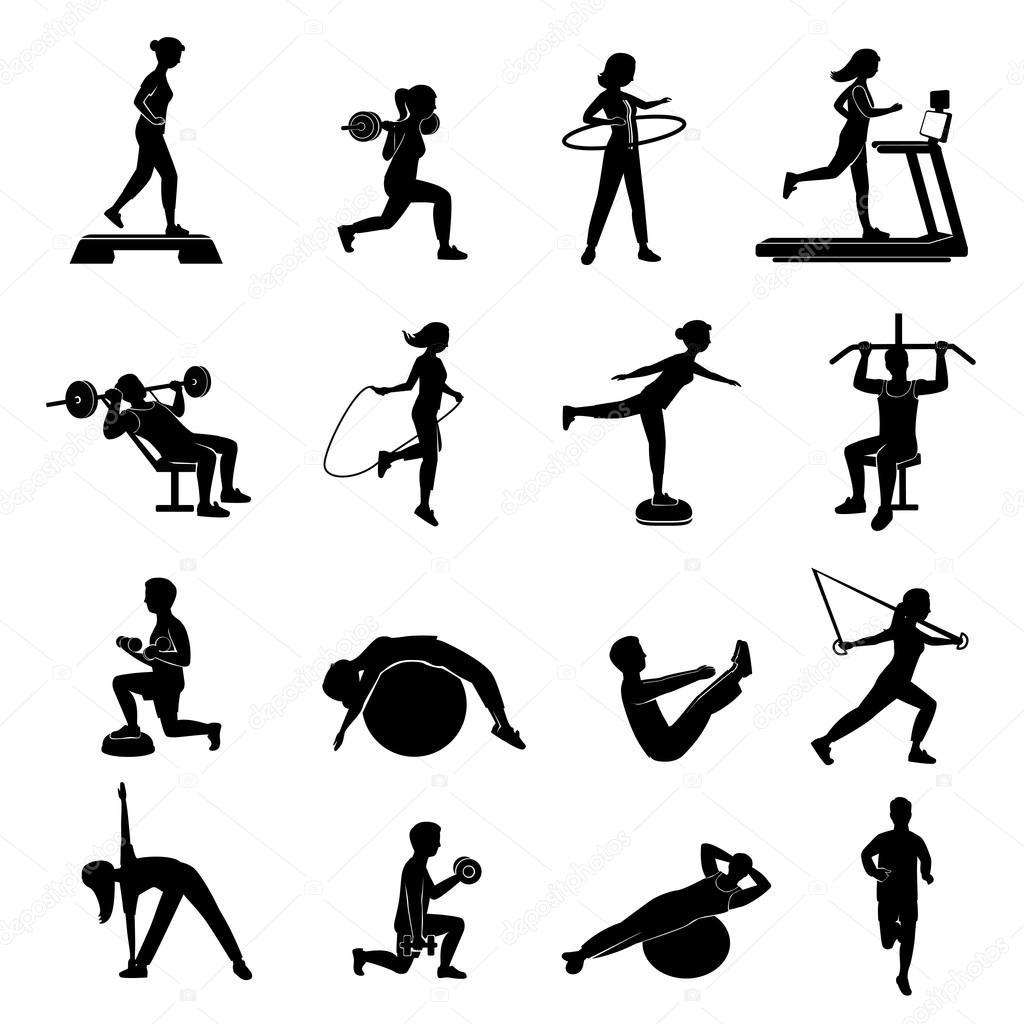Fitness Manner Frauen Blackicons Set