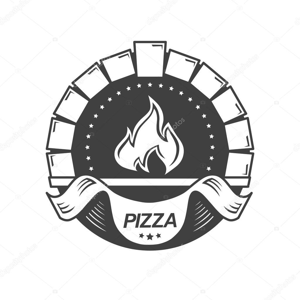 Template Vintage Pizzeria Label