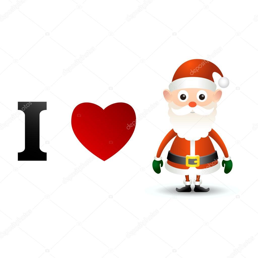 Download I love Santa Claus card. — Stock Vector © game_gfx #51819379