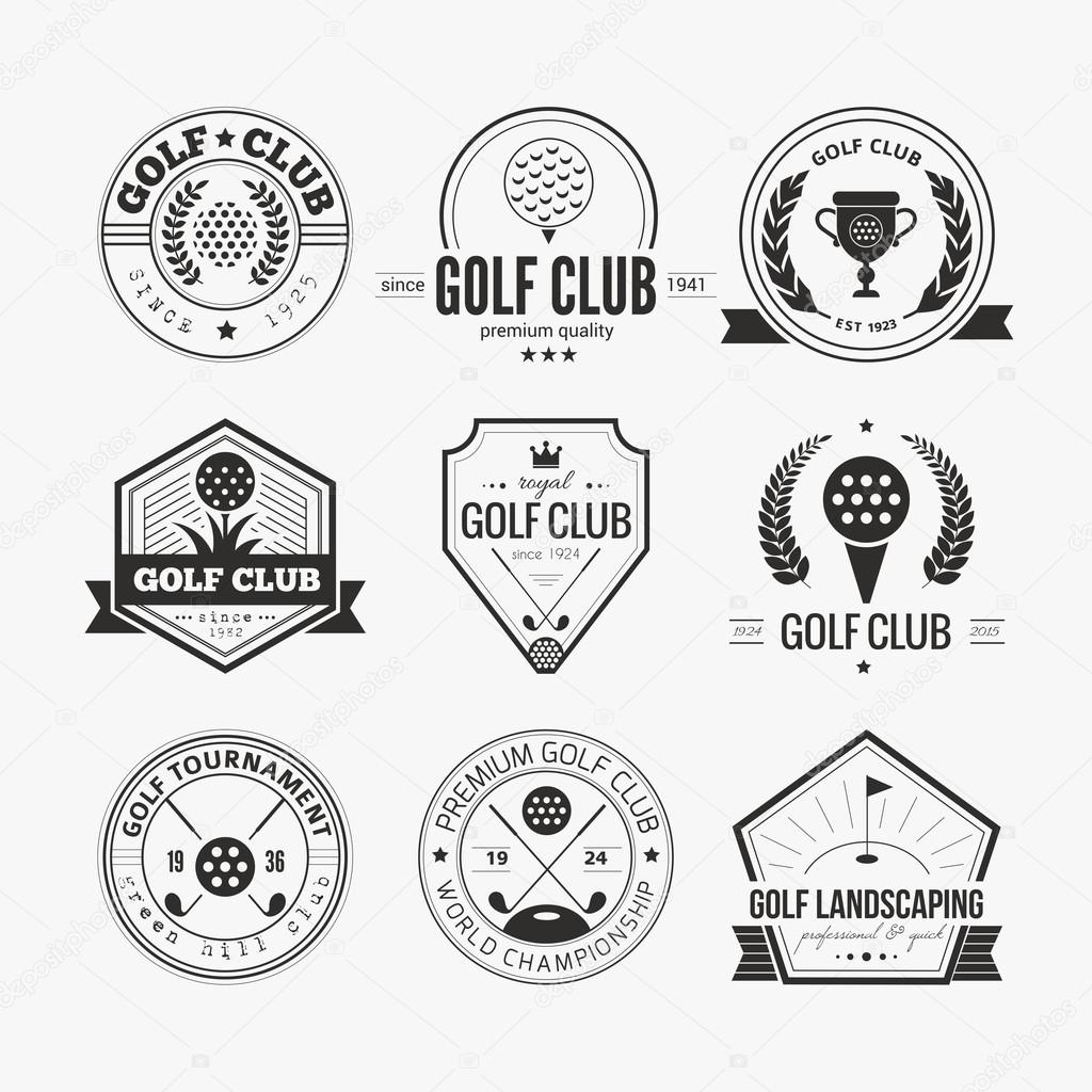 Set Of Golf Club Logo Templates