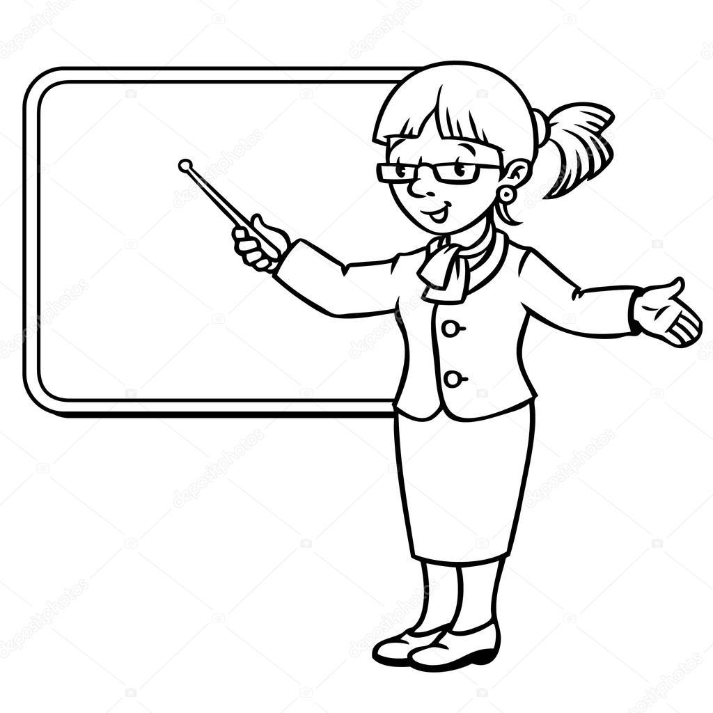 Professeur De Drole Avec Pointeur Serie De Profession