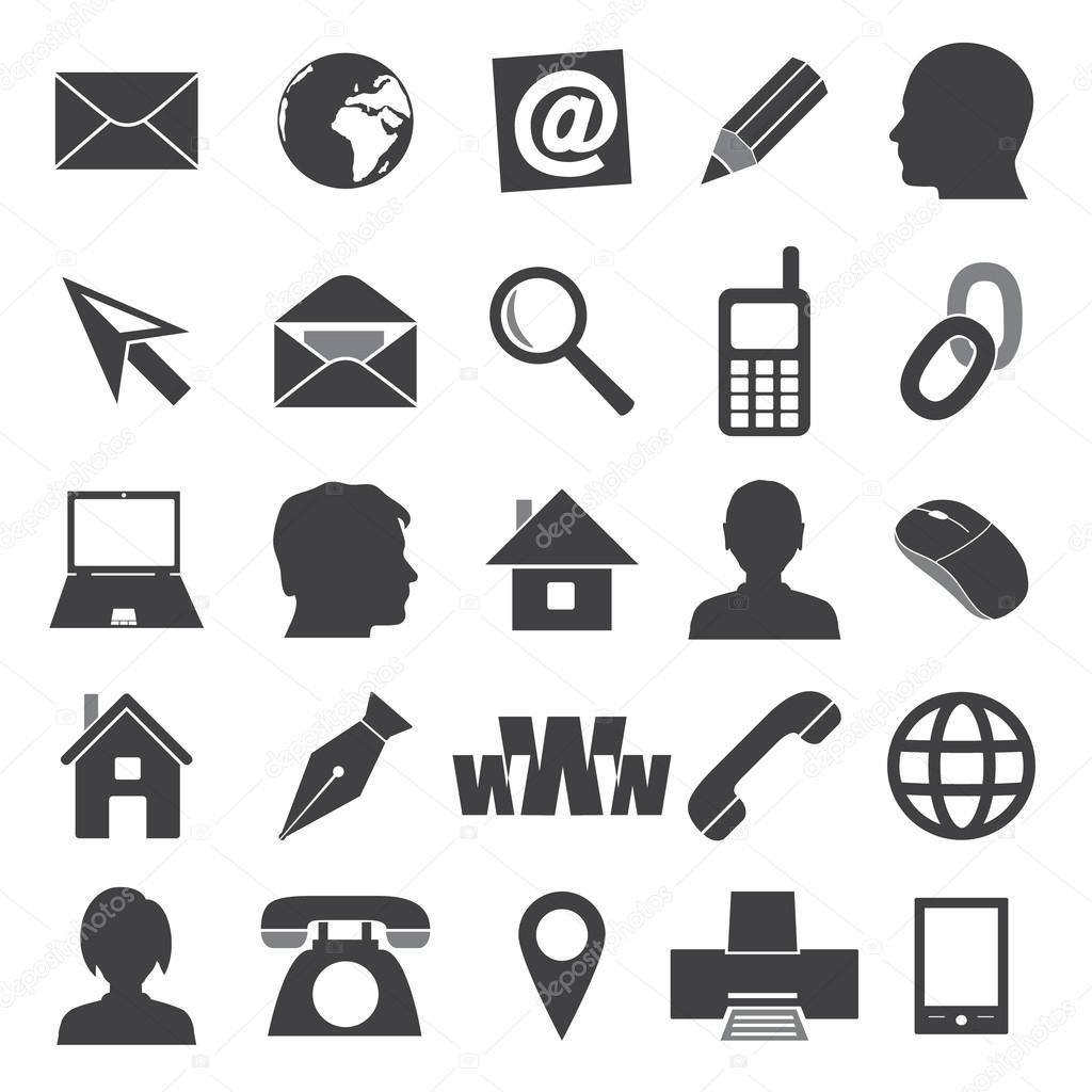 Icones Simples Para Cartao De Visita E Eps10 De Uso Diario