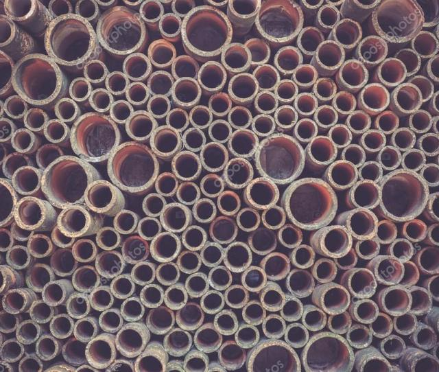 Abstract Of Old Tube Stack For Background Stock Photo
