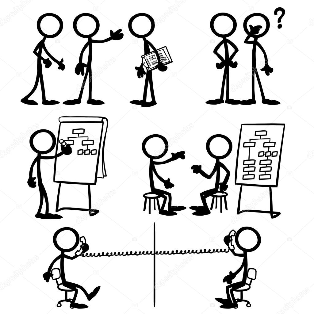 Set Of Stick Figures Business Strategy