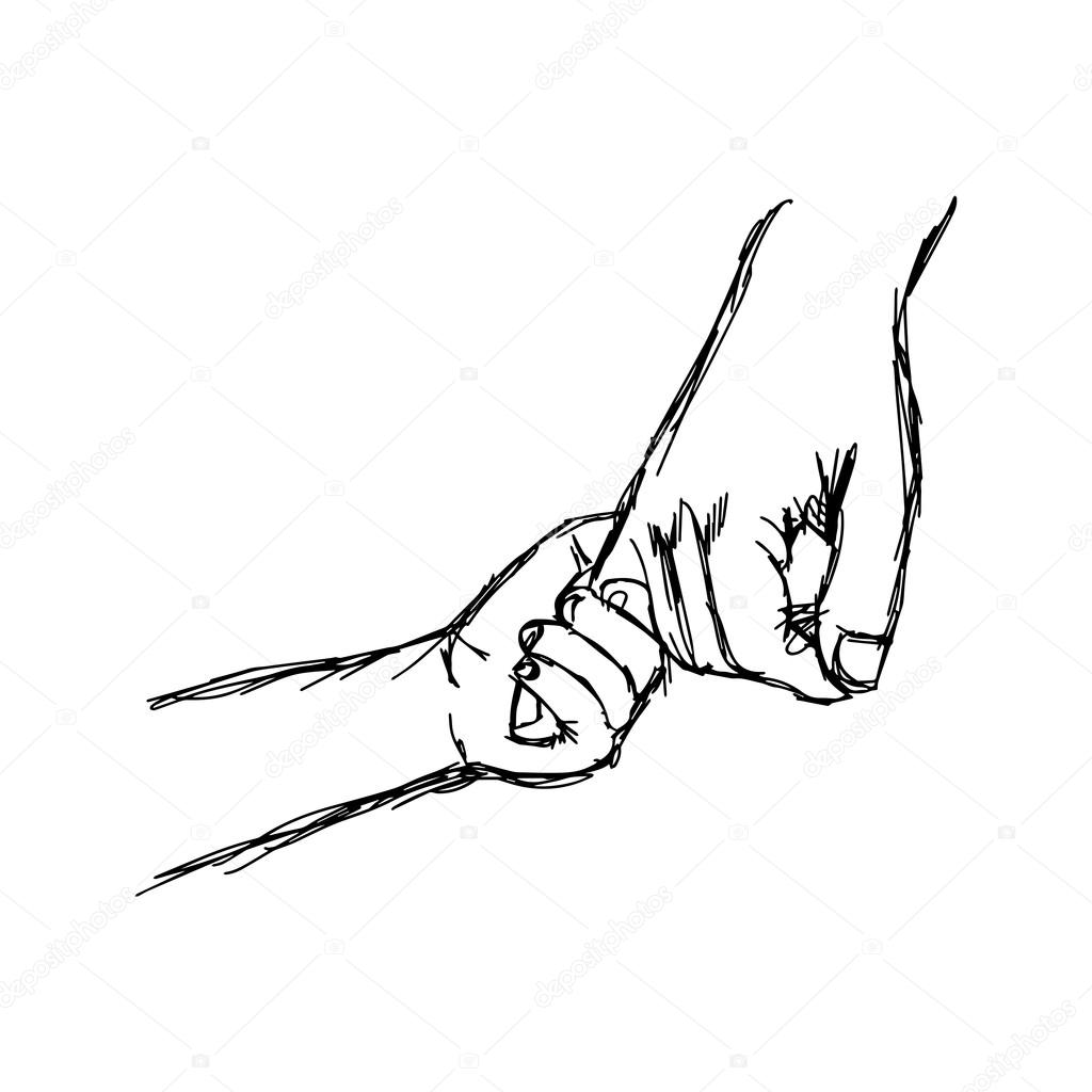 Illustation Vector Parent Holds The Hand Of A Little Child