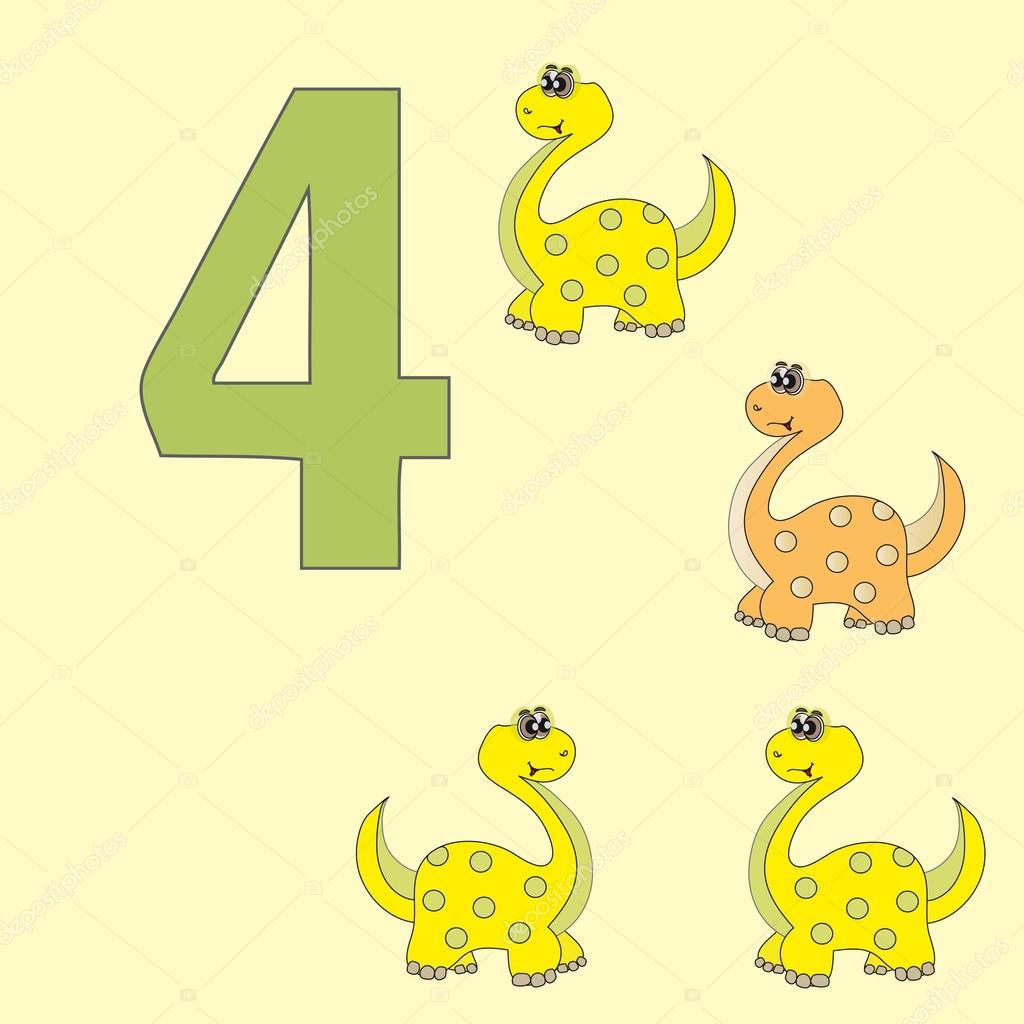Numero 4 Dinossauro De Quatro Brachiosaurus