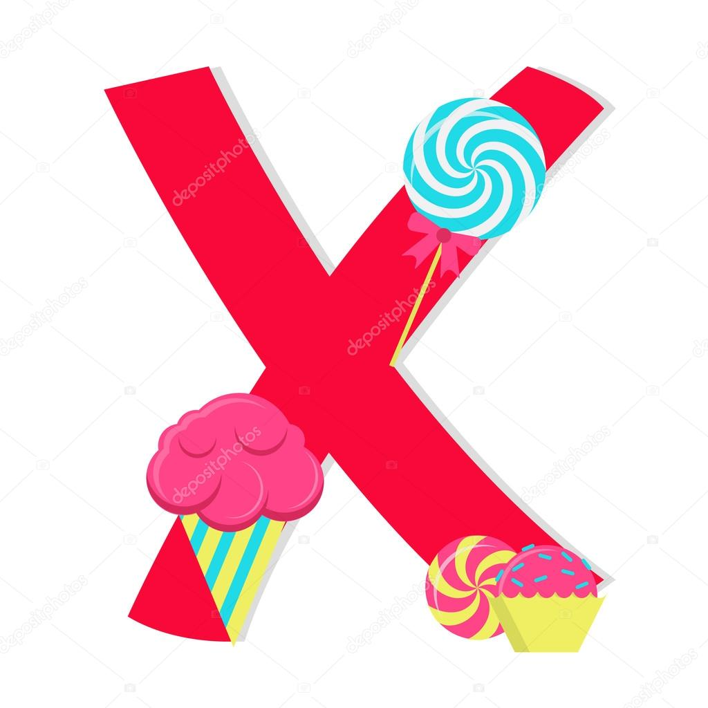 Letter X From Stylized Alphabet With Can S