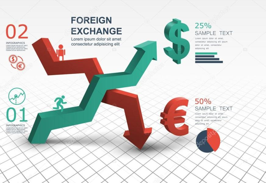 Foreign Exchange Market infographic template     Stock Vector     3d abstract arrow banner Foreign Exchange Market infographic template  creative design     Vector by Chalapan