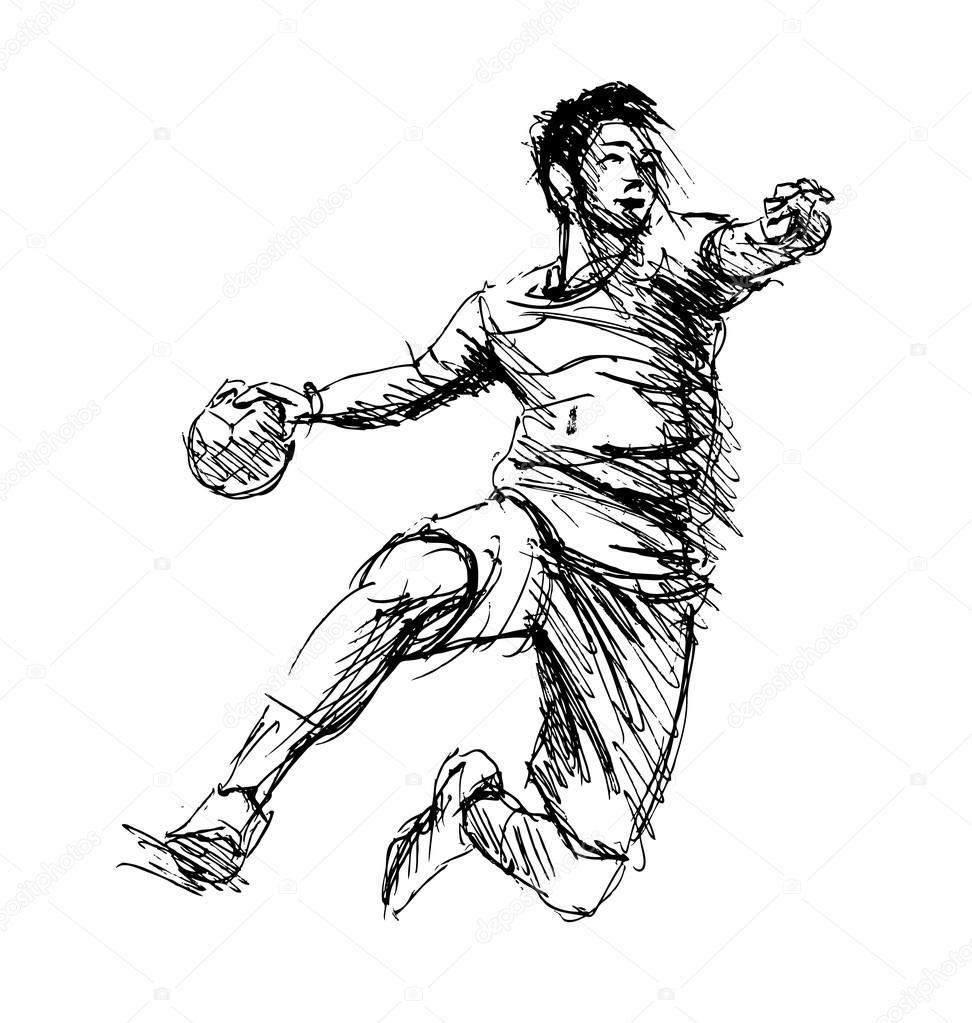 sketch handballer 112722576