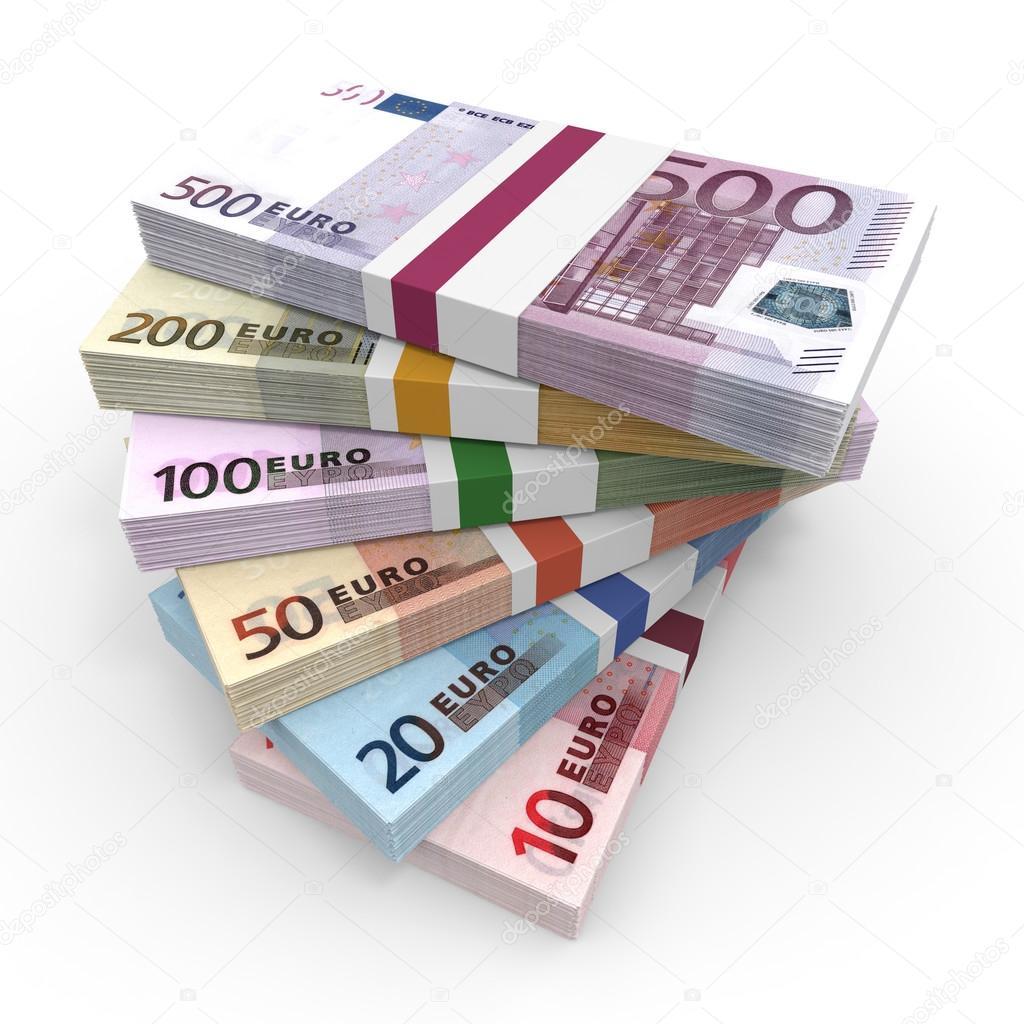 Geld Stapels Van Euro