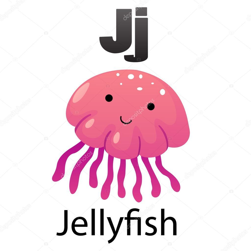 Alphabet Letter J Jellyfish